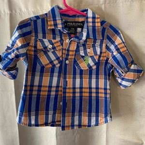 U.S POLO ASSN 12M boy button down shirt